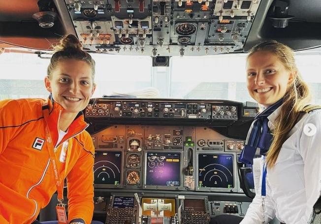 東奧/比賽結束怎麼回國?荷蘭高球女將直接給「機長姐姐」載回家