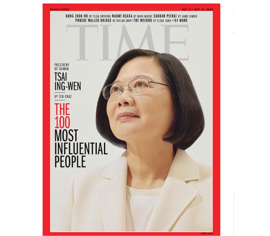 快新聞/蔡英文列時代雜誌年度百大風雲人物 美參議員:我親眼目睹她捍衛台灣人民權利
