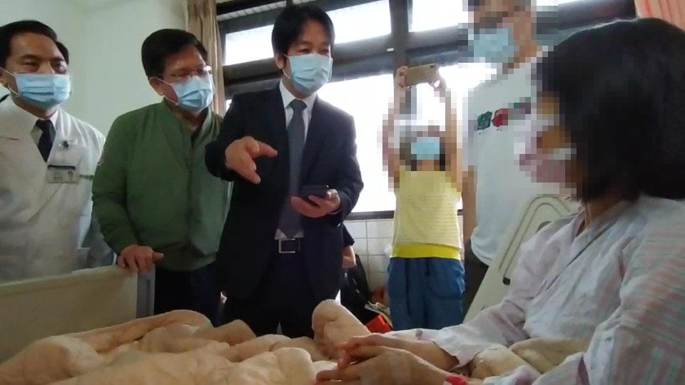 快新聞/親赴花蓮探視每位傷患 賴清德喊話醫院:讓他們平安回家
