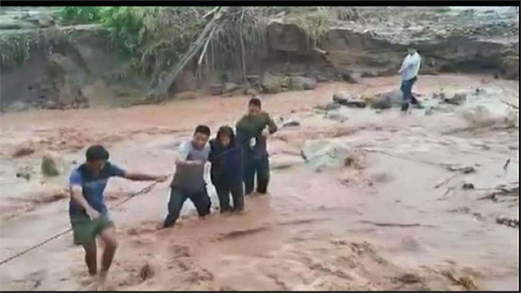 秘魯暴雨釀災情!洪水、土石流阻交通毀民宅