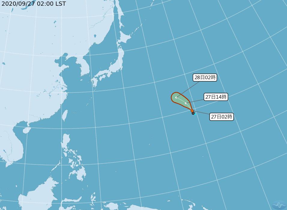 快新聞/太平洋海面熱低壓最快今發展成颱風 氣象局:對台灣無威脅
