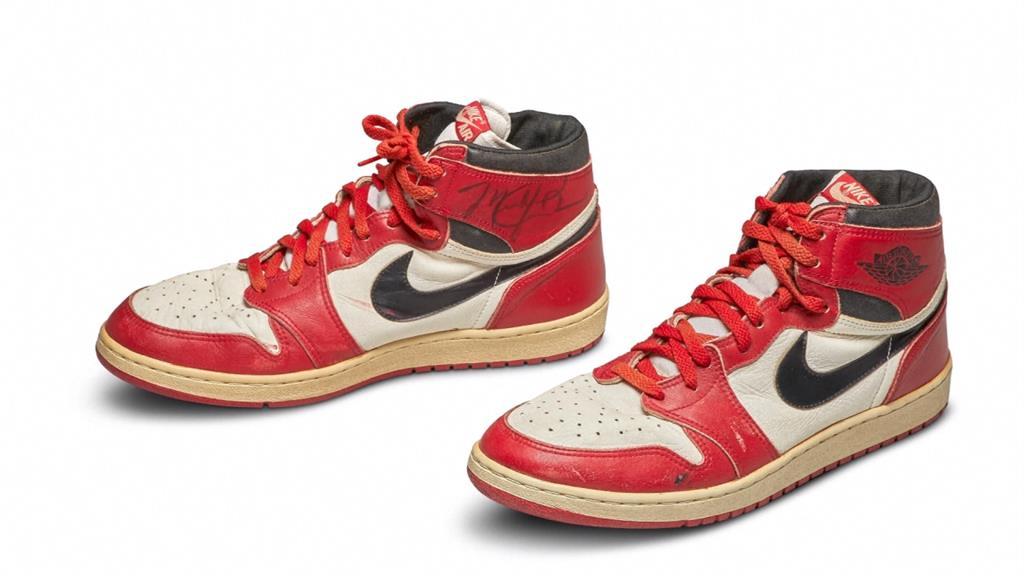 史上最貴籃球鞋!喬丹1985年實戰籃球鞋破紀錄 近1690萬天價賣出