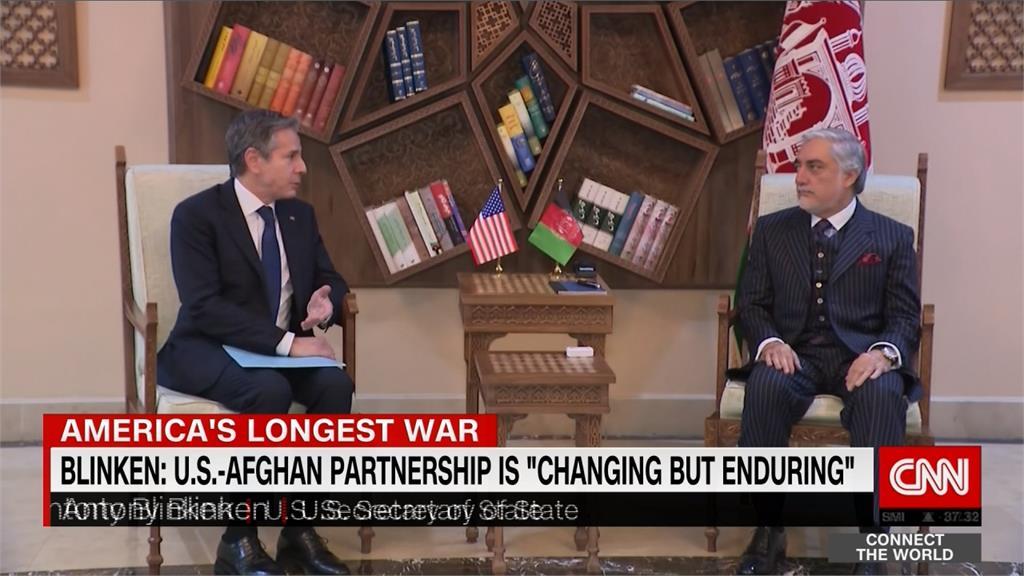 美軍將全數撤出 布林肯突訪阿富汗安撫人心