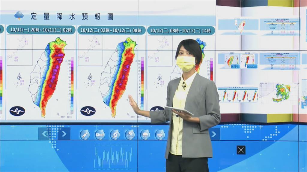 快新聞/圓規颱風「今晚至明晨」影響最劇! 花蓮恐狂下600毫米