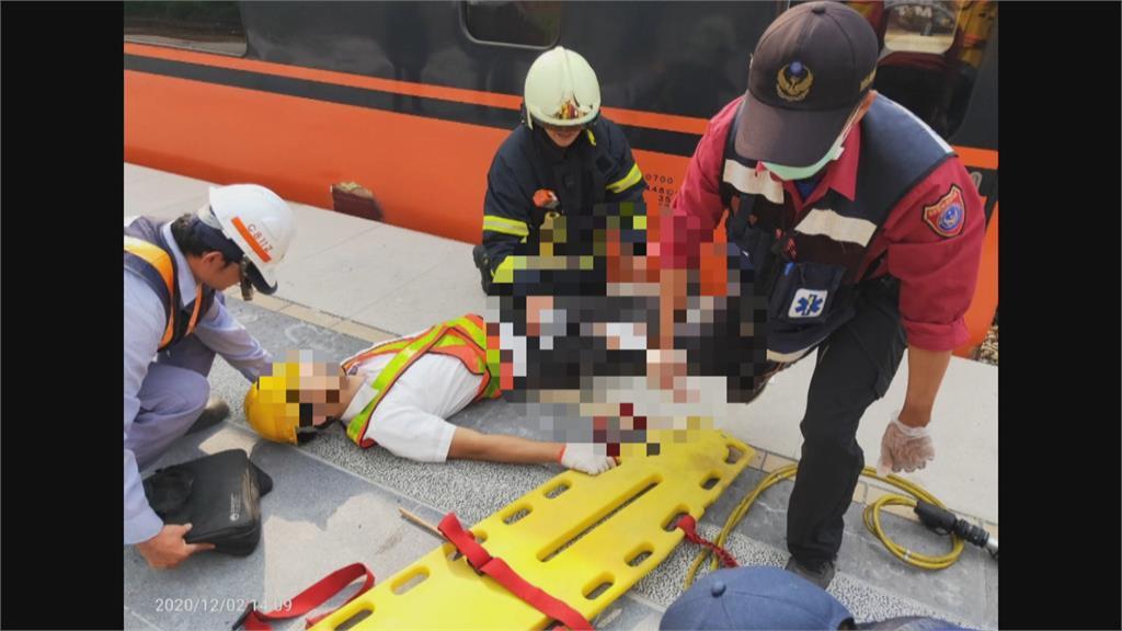 在執行推進調車疑手滑失去平衡!屏東南州站 工作人員腿遭進站列車夾傷