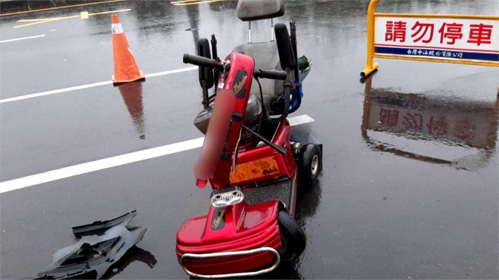 9旬翁騎電動車橫越馬路視線不佳?遭對向轎車撞飛身亡