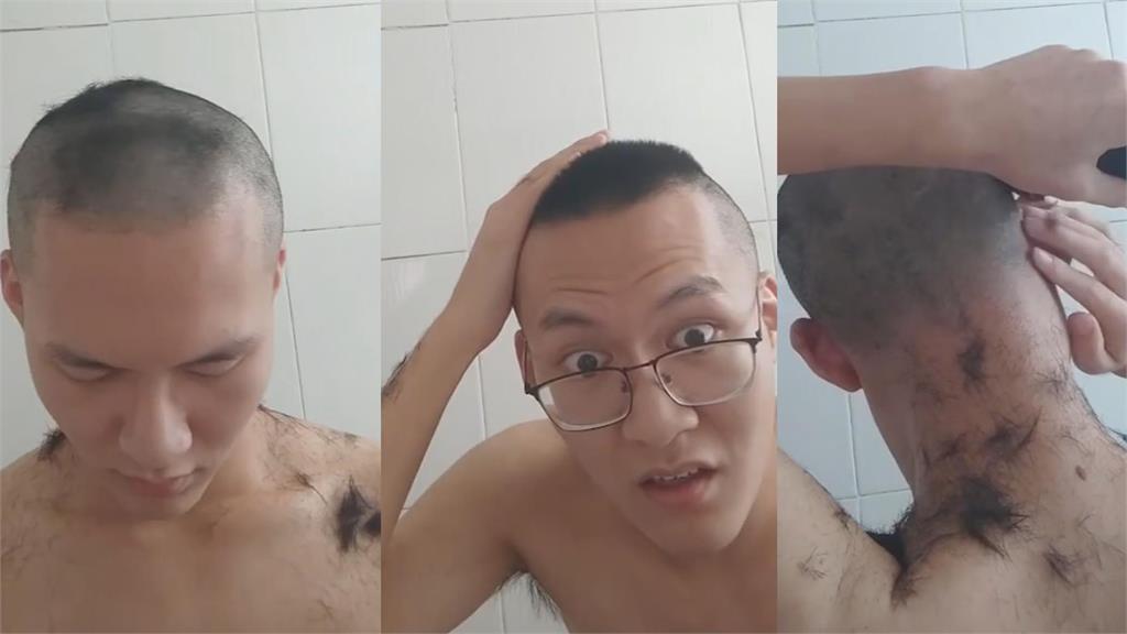 理髮悲劇!中國男剃頭求對稱 「猛嚕過頭」下秒失手慘變光頭