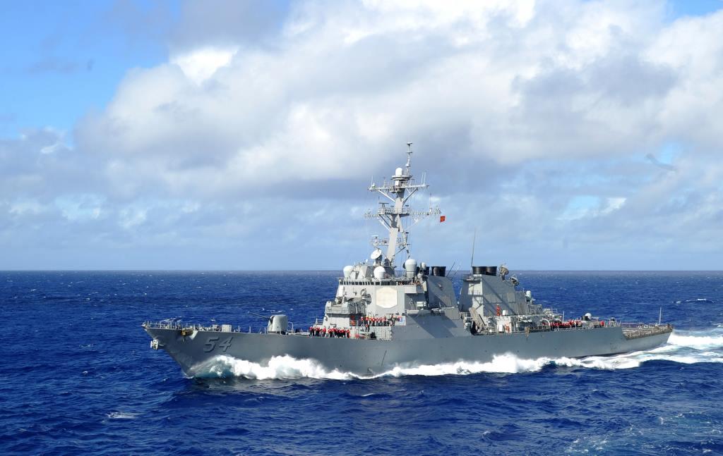 美艦魏柏號通過台海 中國:蓄意破壞地區安全