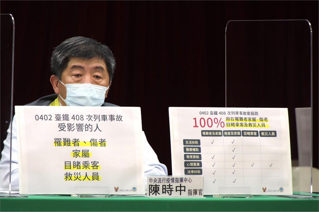 快新聞/9.6億善款最快下週發出第一筆 <em>陳時中</em>澄清「100%用在太魯閣號受難者」