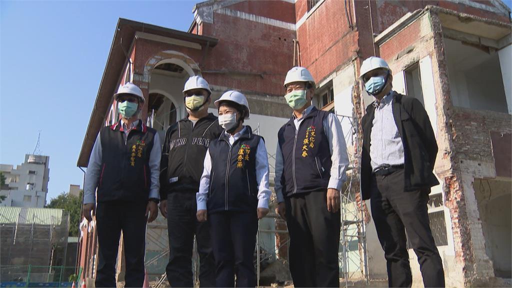 6.1億修復國定古蹟 台中州廳C棟「山牆」見光