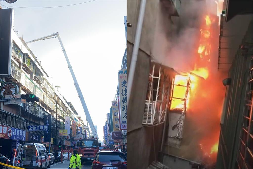 快新聞/新北市新莊民宅大火! 警消出動雲梯車救援疏散26人