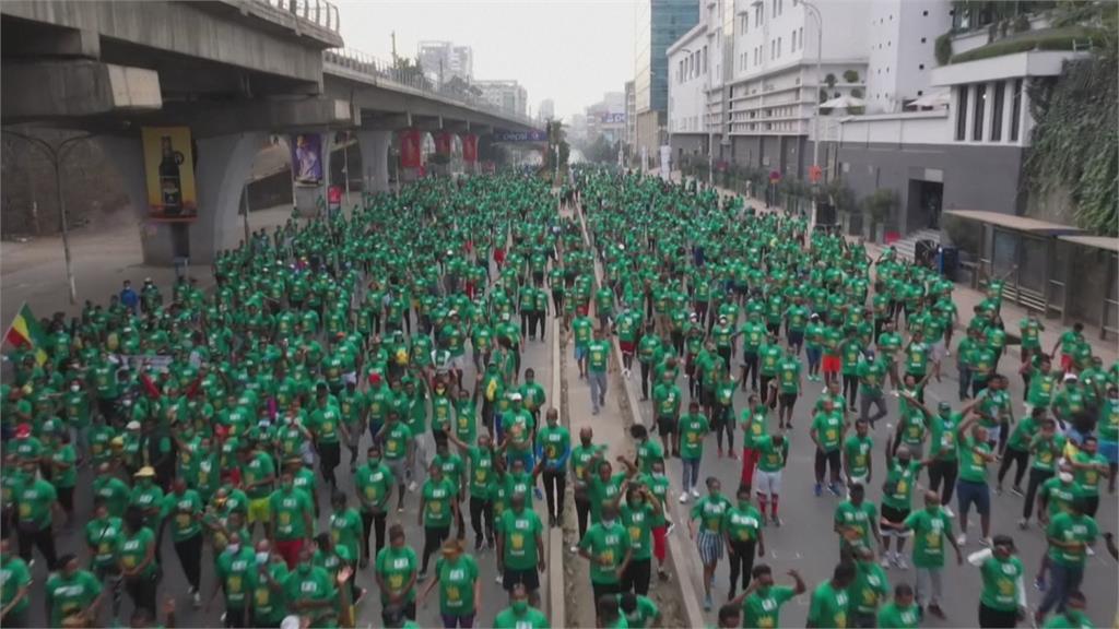 衣索比亞路跑連辦10年 因疫情減少近3萬跑者