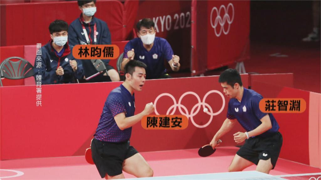 台灣桌球男團再奪勝! 林昀儒、莊智淵、陳建安晉8強