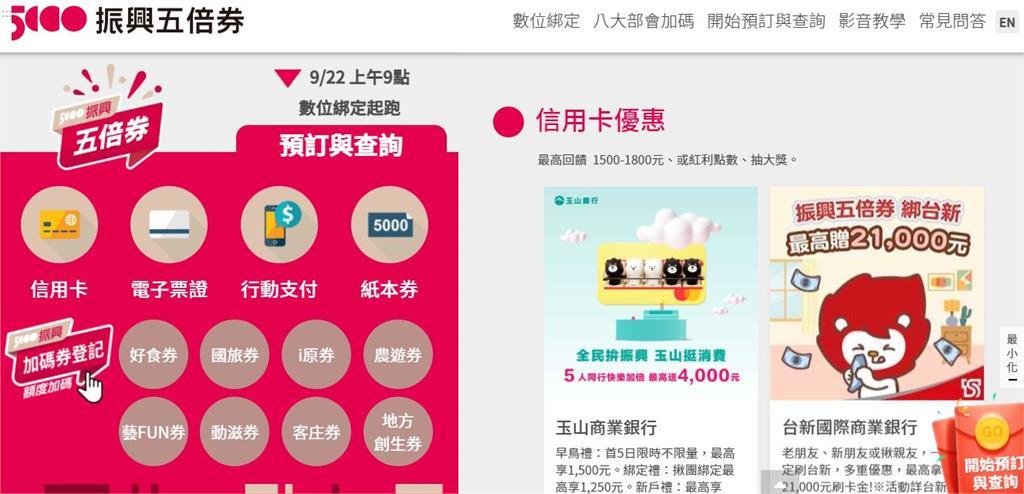 快新聞/五倍券官網1小時破88萬人湧入 21.7萬人手刀數位綁定