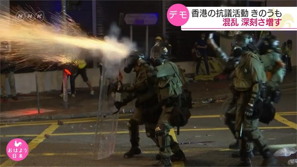 反送中/中環抗爭變萬人「都市遊擊戰」!警朝民眾狂射催淚瓦斯、橡膠子彈