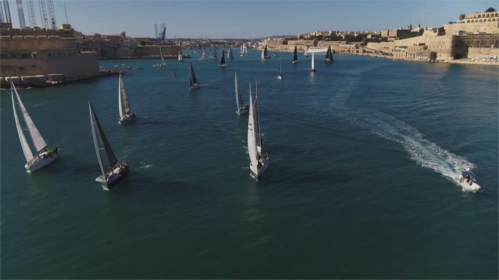 第41屆中海帆船賽 50艘船繞西西里島一圈