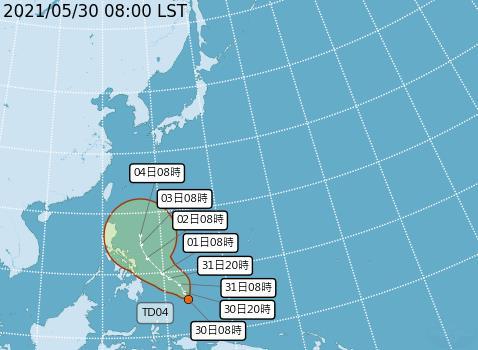 快新聞/熱低壓生成!最快明成颱「彩雲」 可能影響下波梅雨鋒面