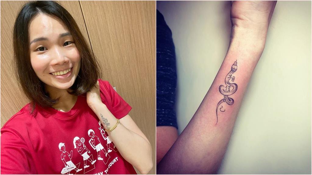 戴資穎手上刺戴爸「手寫4字刺青」與生肖 讓她比賽心靈更強大!