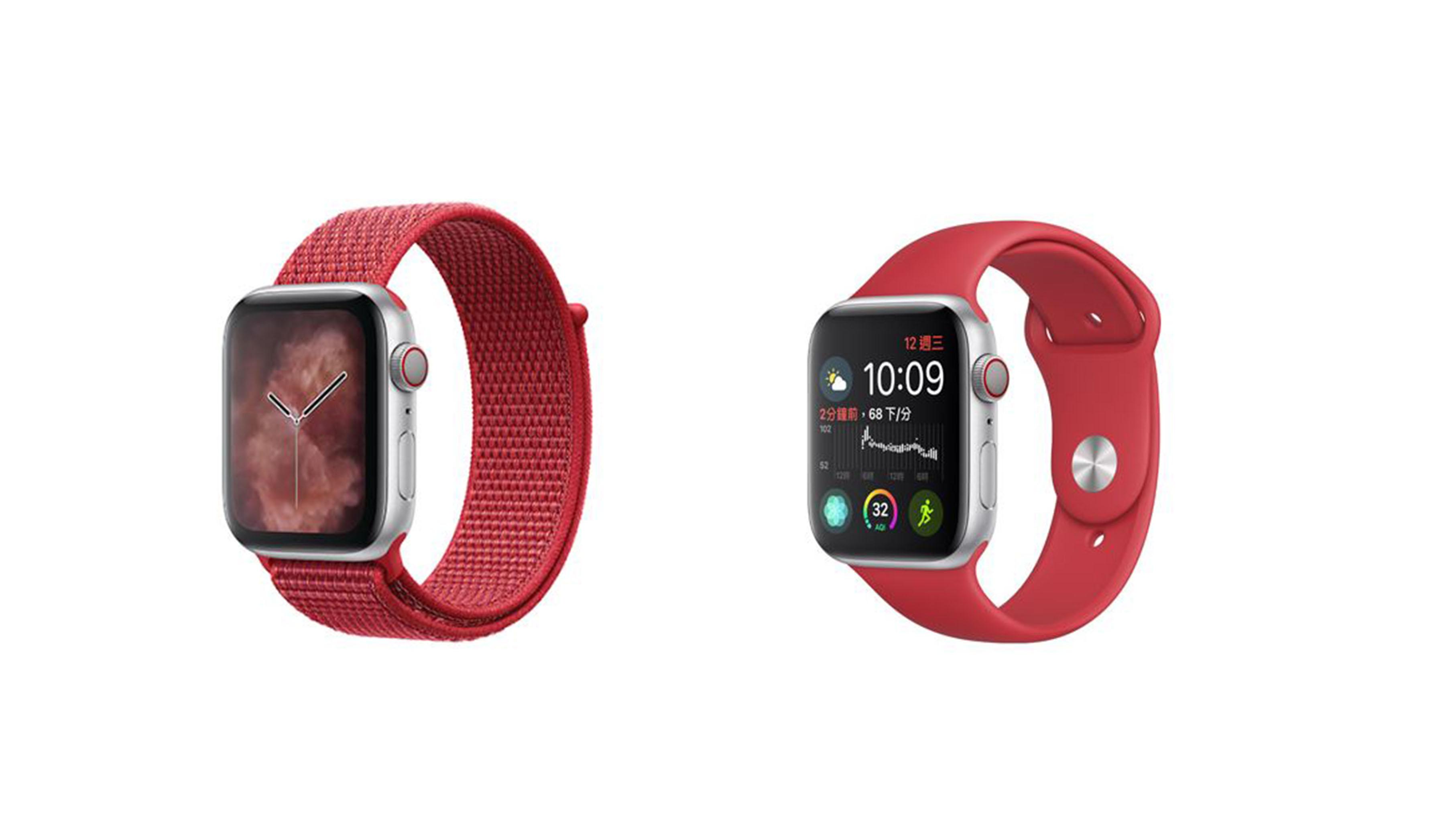 蘋果新增2款(PRODUCT)RED紅色運動型錶環 給你更多選擇