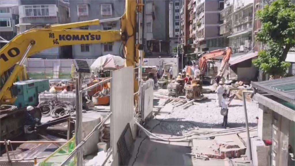連續壁破洞釀永和路面坍塌!新北市府開罰9萬、勒令停工
