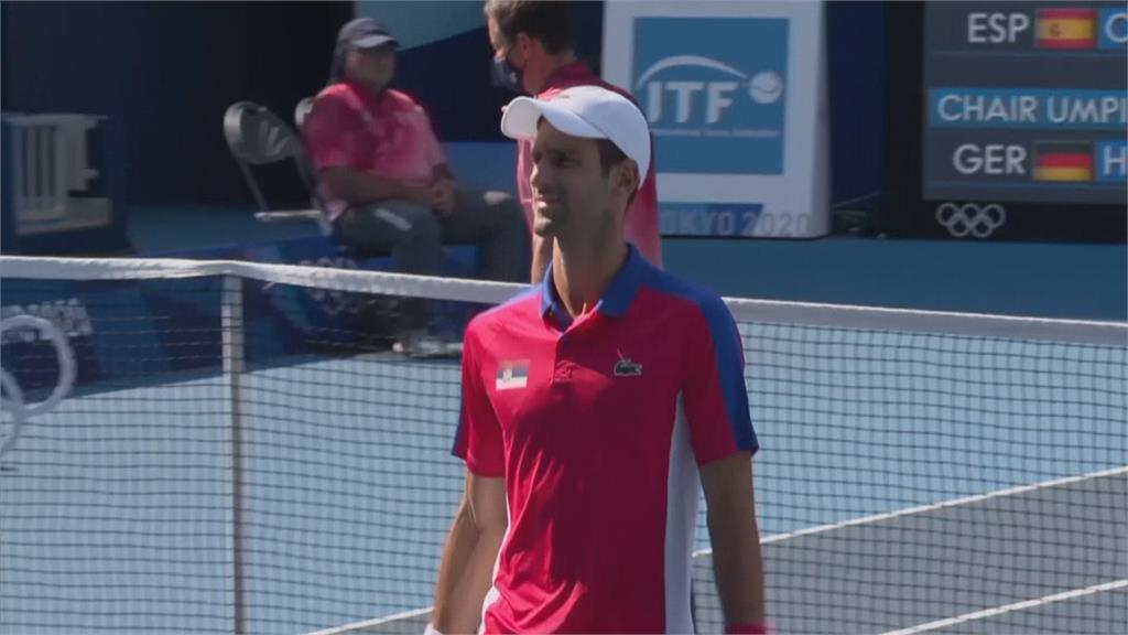 網球球王喬科維奇 東奧銅牌戰落敗.混雙也棄賽