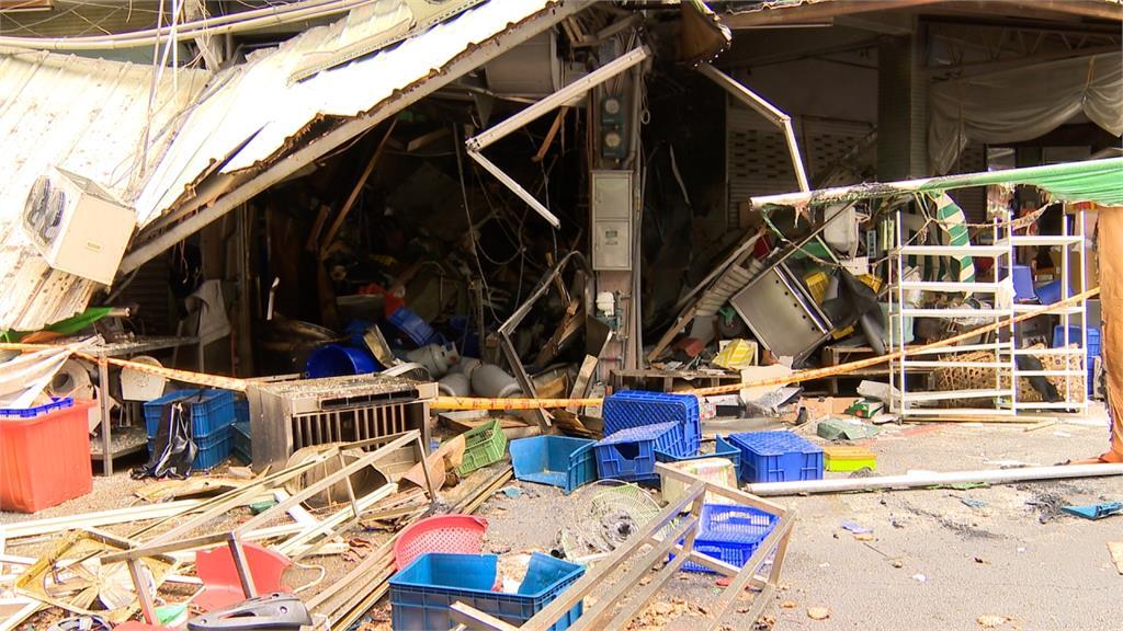 台中炸物店氣爆/火球噴兩樓高射對街 釀3人傷