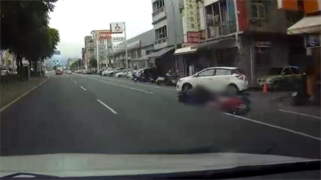 女騎士追撞前車  反控汽車駕駛「肇事逃逸」
