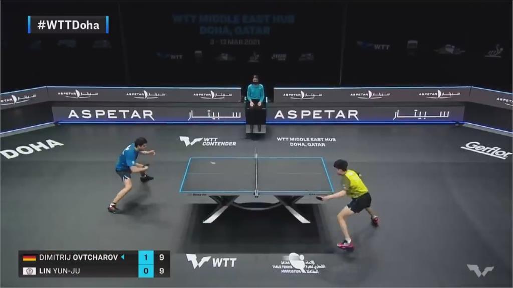 桌球男單銅牌賽再戰大魔王!林昀儒今晚對戰前球王奧恰洛夫拚勝