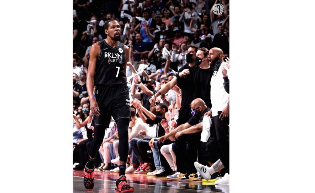 NBA/杜蘭特強攻32分 籃網一路領先捕獲公鹿