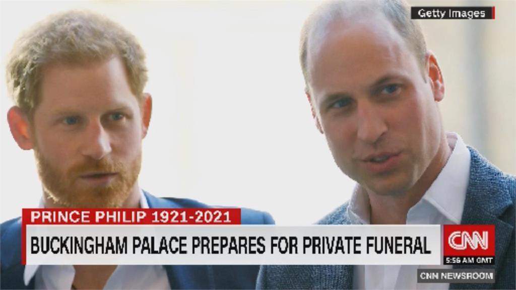 菲利普親王葬禮 威廉哈利不會並肩同行