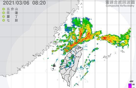 快新聞/鋒面持續逼近台灣 苗栗以北慎防「瞬間大雨」