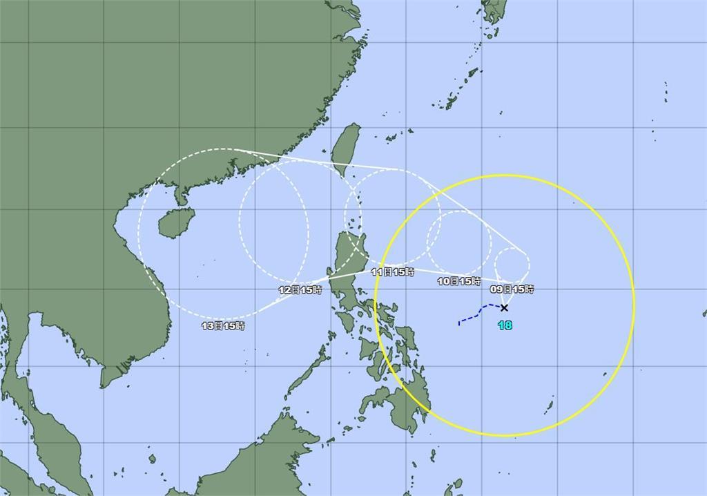 快新聞/第18號颱風「圓規」生成!最新路徑出爐 下週一起全台變天