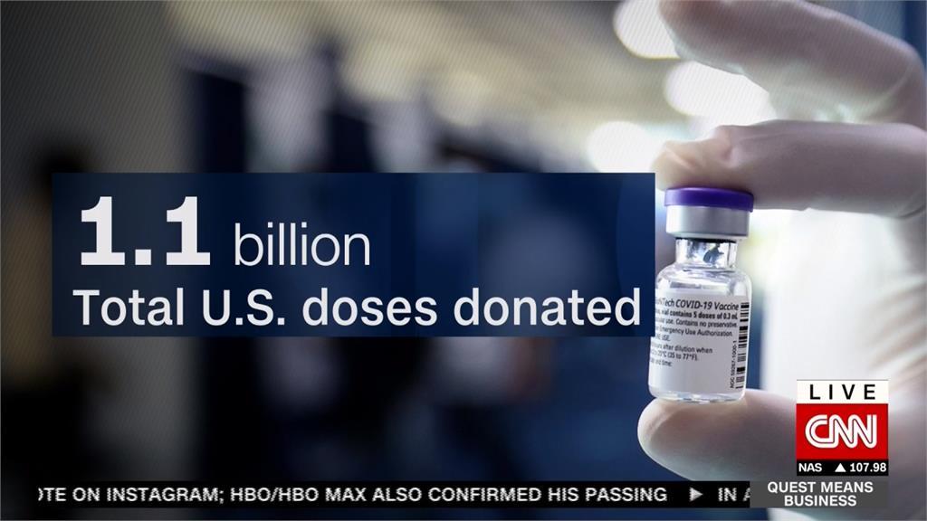 疫苗外交加碼!拜登宣布再捐5億劑疫苗助貧國