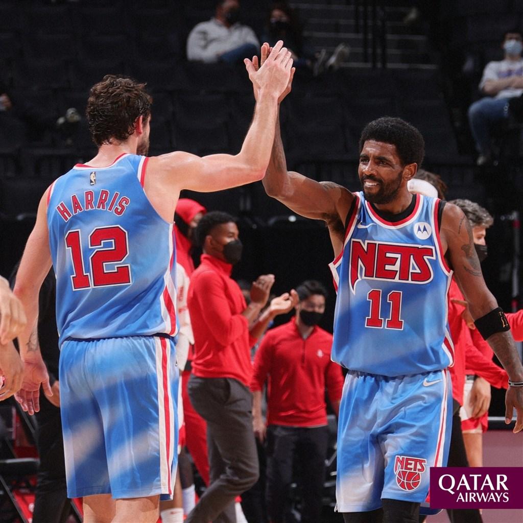 NBA/籃網哈登傷退 厄文率隊衝上東區第一