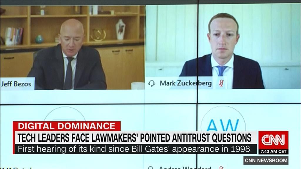 谷歌、臉書、蘋果、亞馬遜出席美國會聽證 CEO遭拷問壟斷、假消息爭議