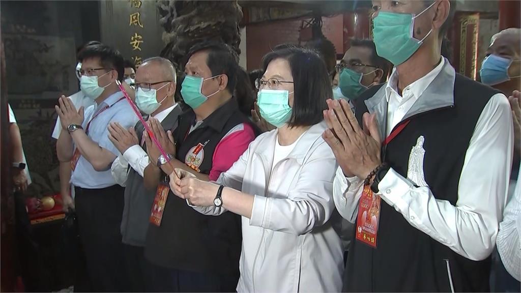 白沙屯媽祖北港進香 蔡英文總統出席淨轎儀式