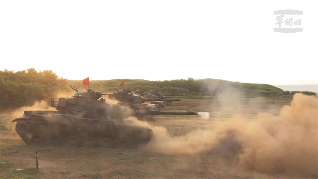 漢光澎湖反登陸演習 M60戰車、155榴砲登場
