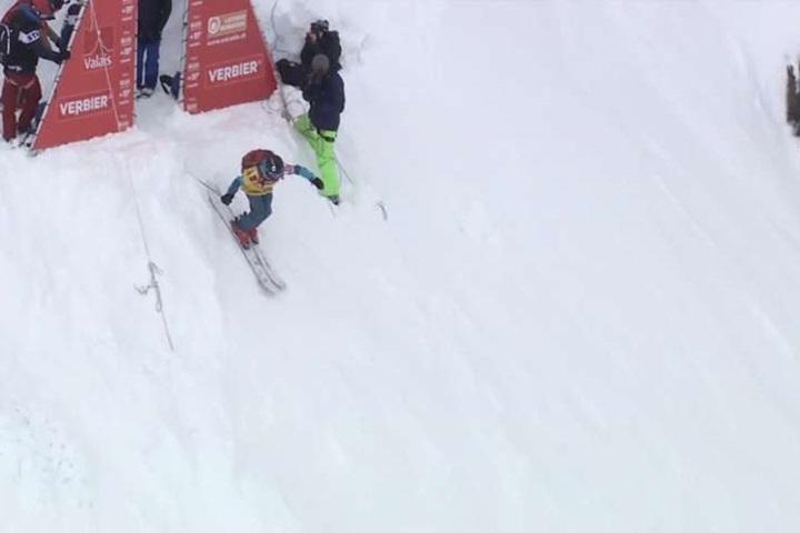 高山極限滑雪  高速下滑600米超壯觀