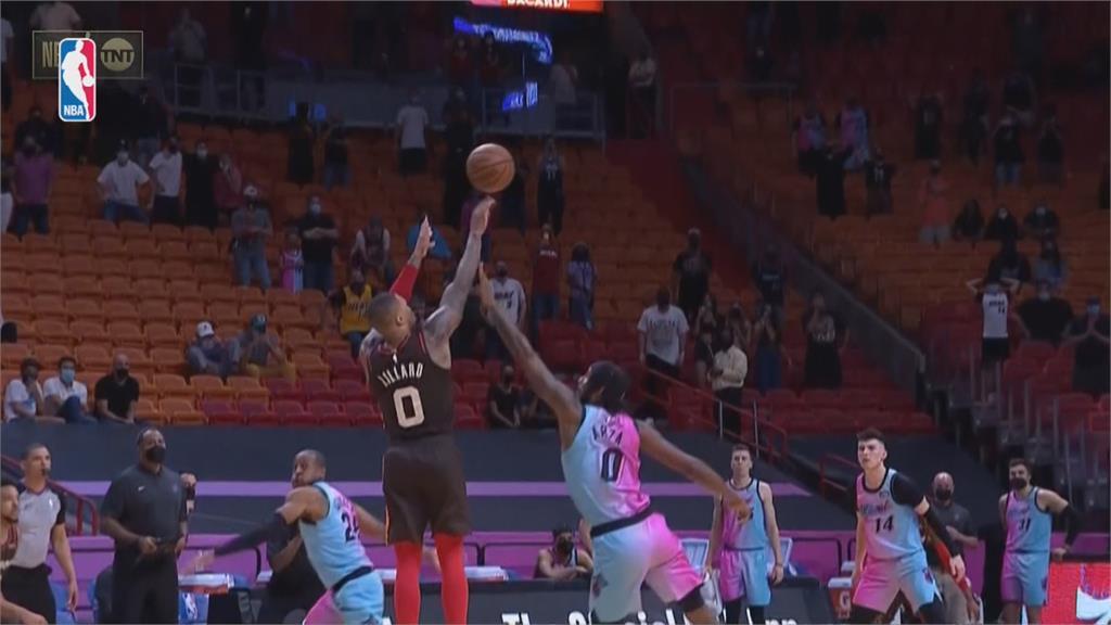 NBA/里勒最後3罰全中 拓荒者客場3分險勝熱火