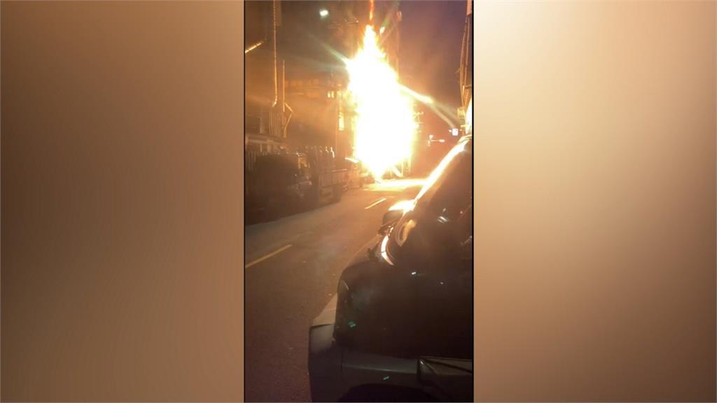 樹林團膳公司凌晨火警 瓦斯鋼瓶氣爆幸無人傷