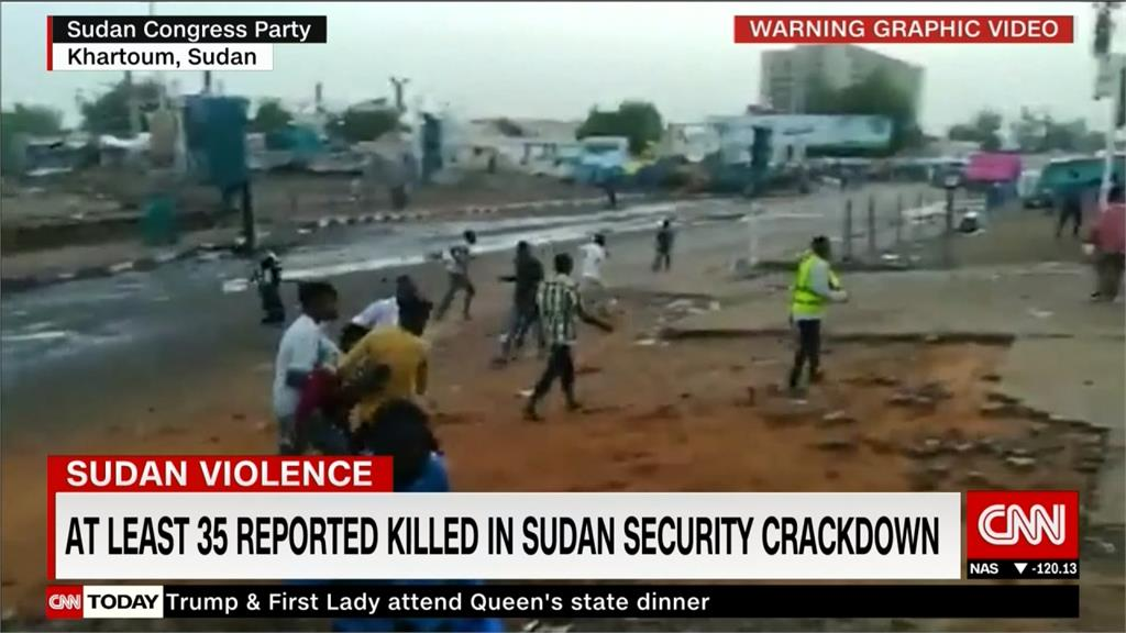 蘇丹版「六四」?靜坐民眾遭武力驅離 至少35死逾2百傷