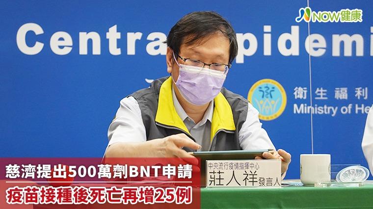 慈濟買500萬劑BNT政院未給授權 打疫苗後死亡增25例