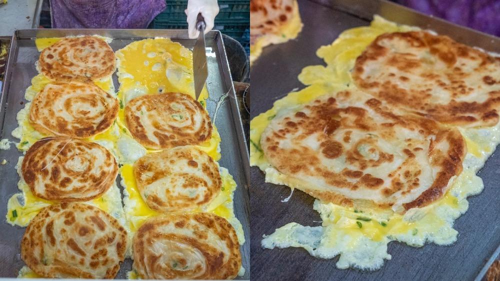新店美食 旭達豆漿店|新店人氣早餐店,現點現做「招牌蛋餅」薄脆酥香,一份吃不夠!