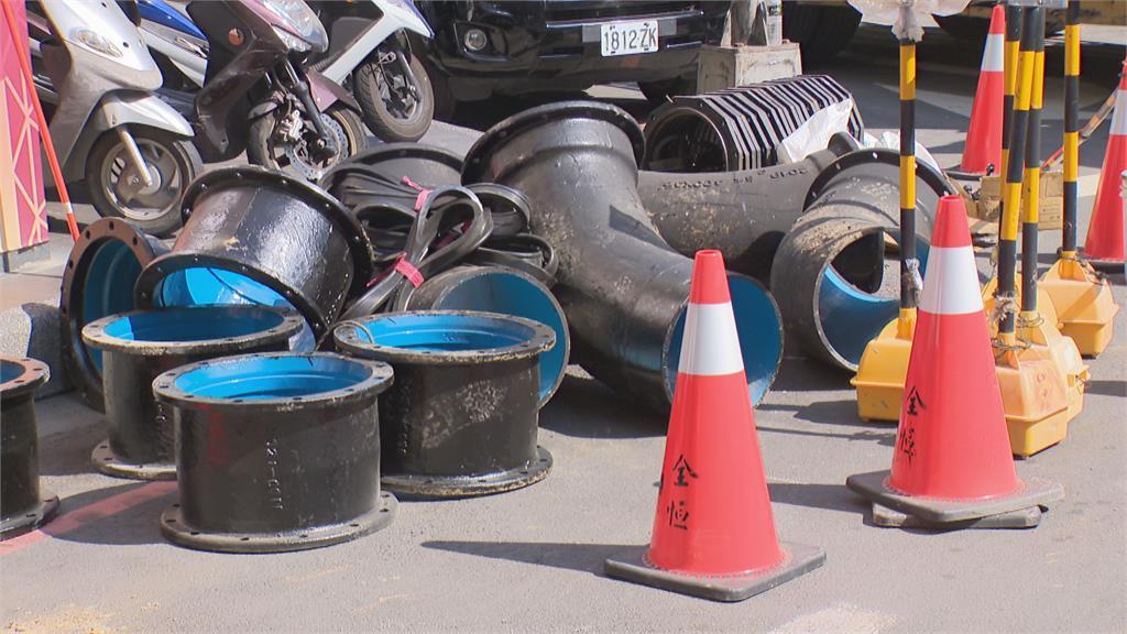 水情吃緊!建案旁道路封閉 設淨水設備供水