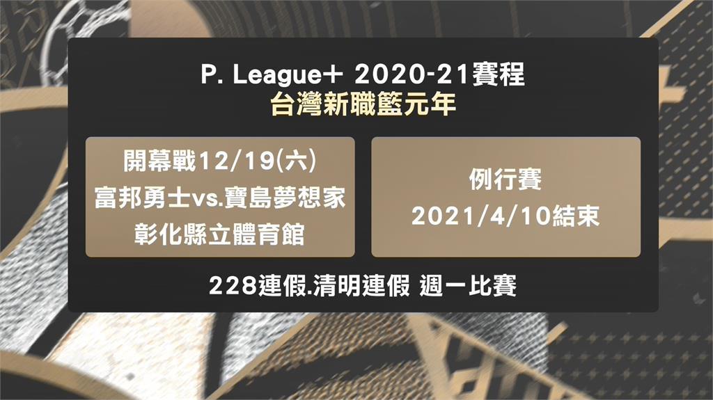 台灣新職籃P. League+ 敲定12/19開幕戰