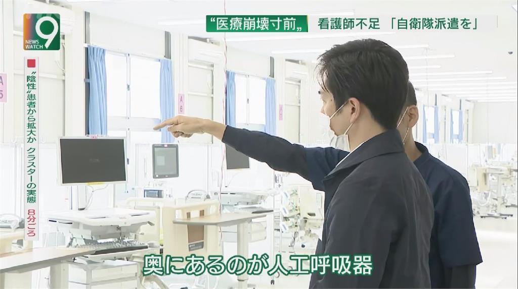 日重症飆升 大阪北海道向自衛隊求援
