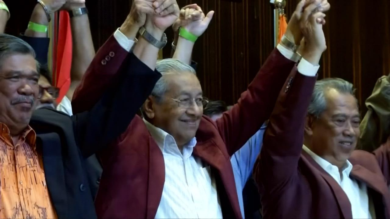 馬來西亞60年首變天 前總理馬哈地扳倒執政黨