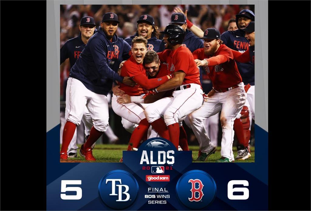 MLB/連兩天再見一擊淘汰光芒 紅襪晉美聯冠軍戰