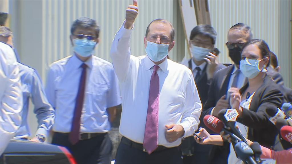 快新聞/阿札爾訪「口罩國家隊」比讚:台灣生產能力令人驚豔
