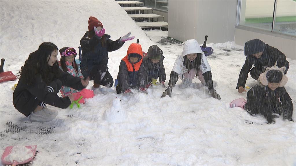 高雄下雪了!? 小朋友嗨翻 國內首座都會飄雪樂園仿真百分百